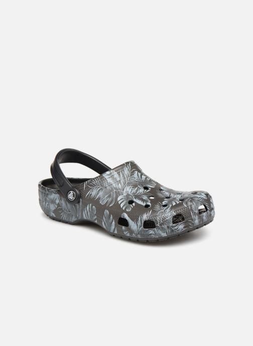 Sandales et nu-pieds Crocs Classic Seasonal Graphic Clog M Noir vue détail/paire