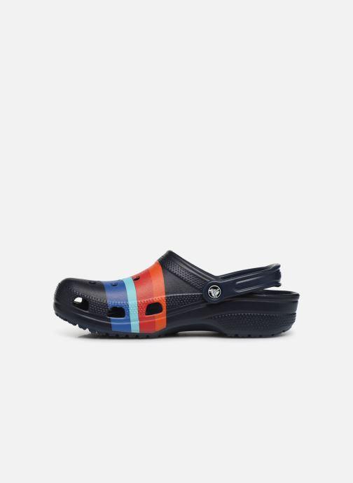 Sandales et nu-pieds Crocs Classic Seasonal Graphic Clog M Bleu vue face
