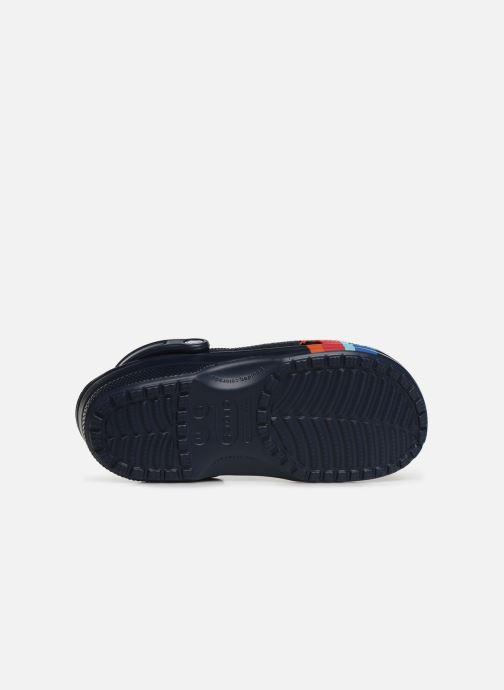 Sandales et nu-pieds Crocs Classic Seasonal Graphic Clog M Bleu vue haut