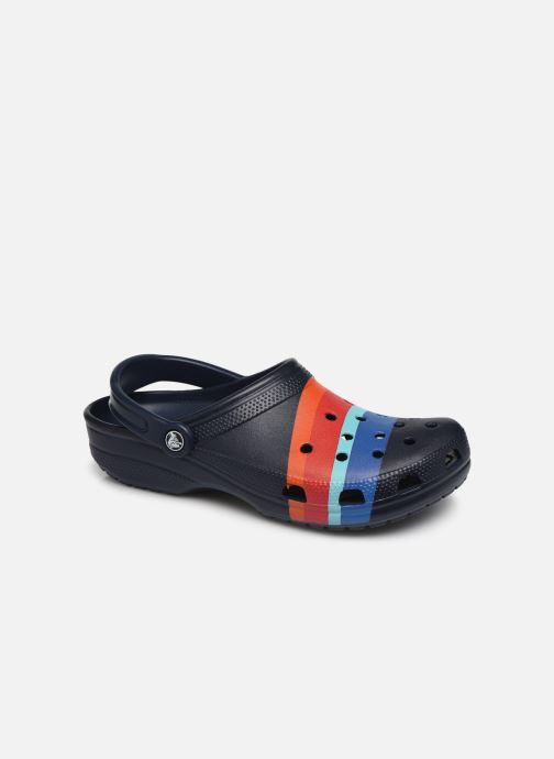 Sandales et nu-pieds Crocs Classic Seasonal Graphic Clog M Bleu vue détail/paire