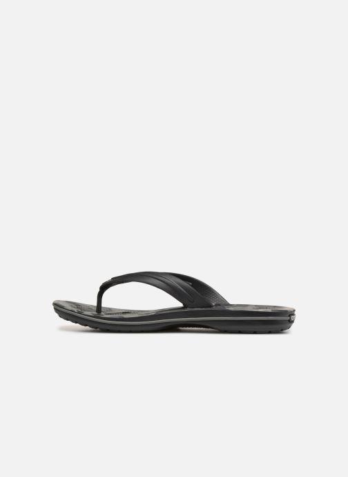 Zehensandalen Crocs Crocband Seasonal Graphic Flip M schwarz ansicht von vorne