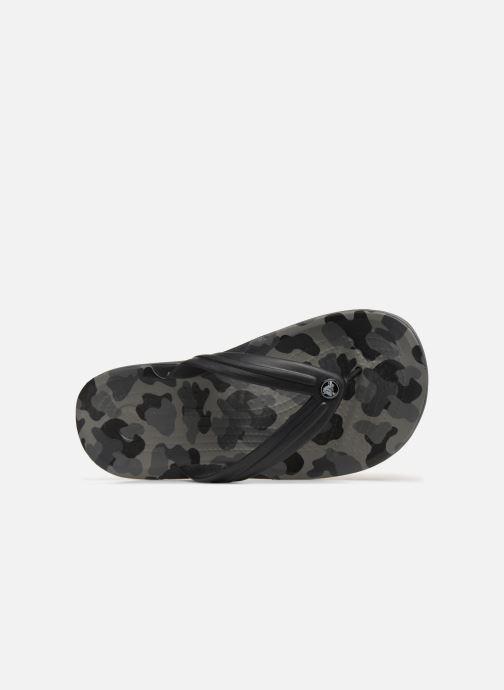 Zehensandalen Crocs Crocband Seasonal Graphic Flip M schwarz ansicht von links