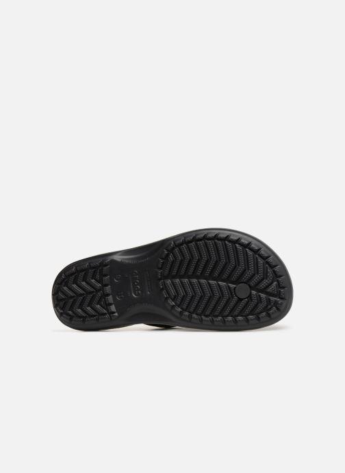 Zehensandalen Crocs Crocband Seasonal Graphic Flip M schwarz ansicht von oben