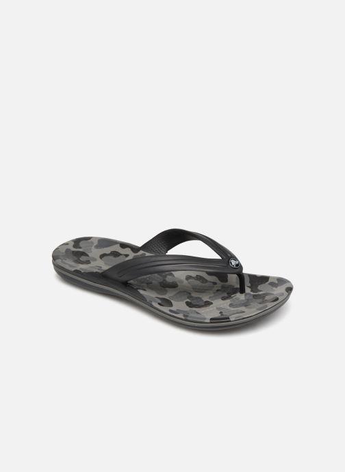 Tongs Crocs Crocband Seasonal Graphic Flip M Noir vue détail/paire