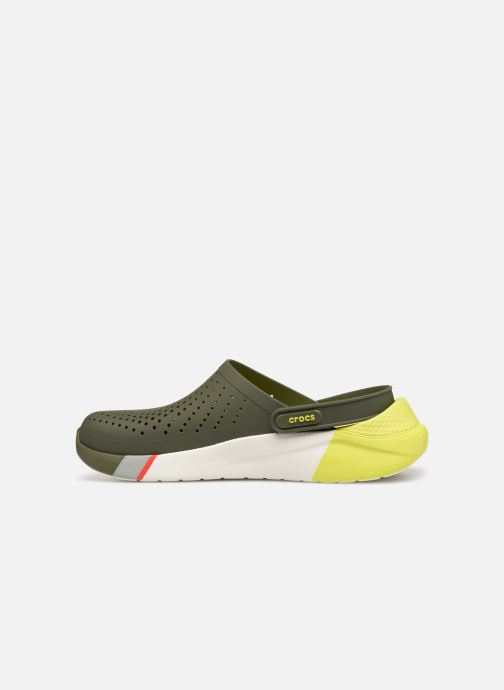 Sandalias Crocs LiteRide Colorblock Clog M Verde vista de frente