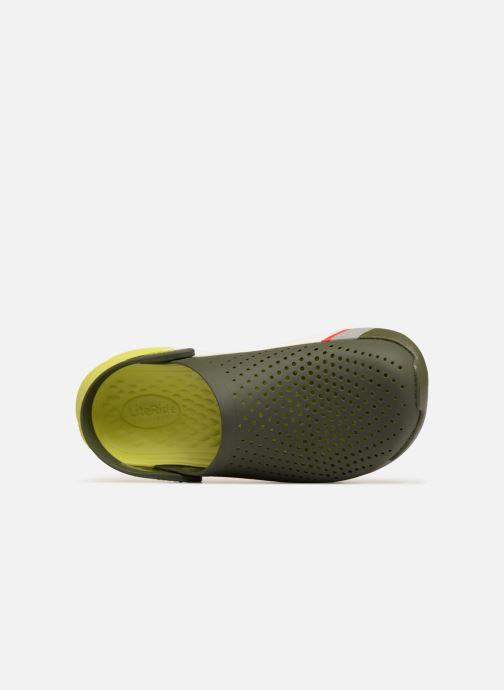 Sandalias Crocs LiteRide Colorblock Clog M Verde vista lateral izquierda