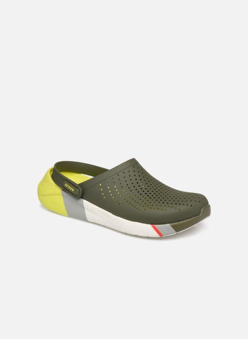 Sandales et nu-pieds Crocs LiteRide Colorblock Clog M Vert vue détail/paire