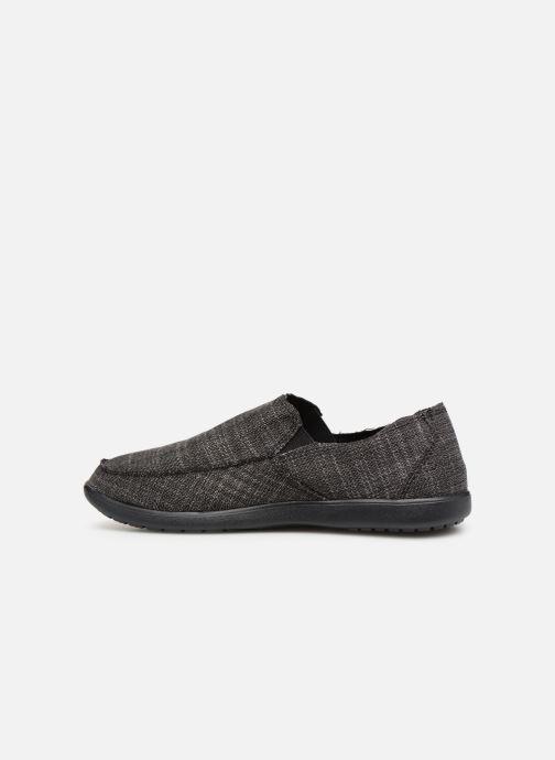 Slipper Crocs Santa Cruz SL M schwarz ansicht von vorne