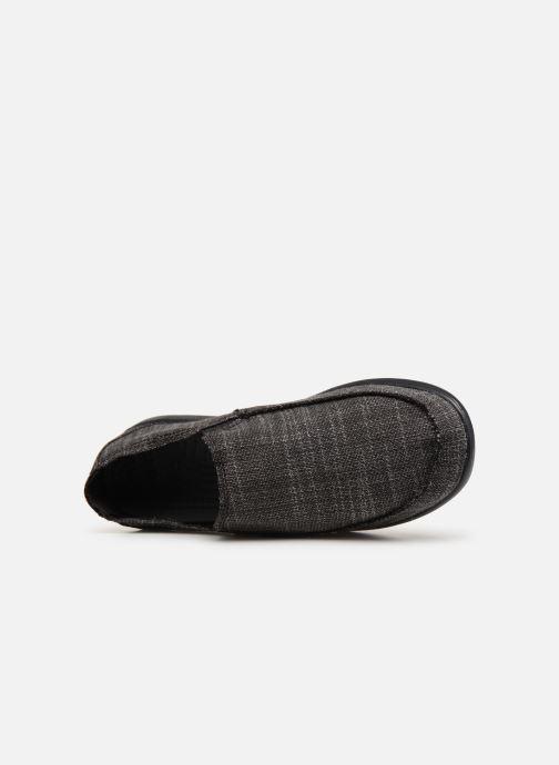 Slipper Crocs Santa Cruz SL M schwarz ansicht von links