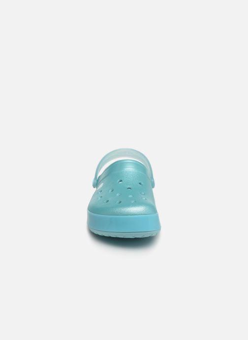 Mules et sabots Crocs Crocband Ice Pop Clog F Bleu vue portées chaussures