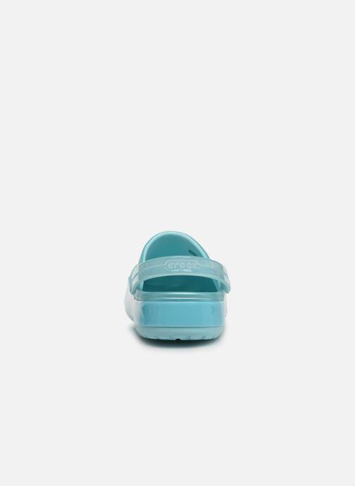 Mules et sabots Crocs Crocband Ice Pop Clog F Bleu vue droite