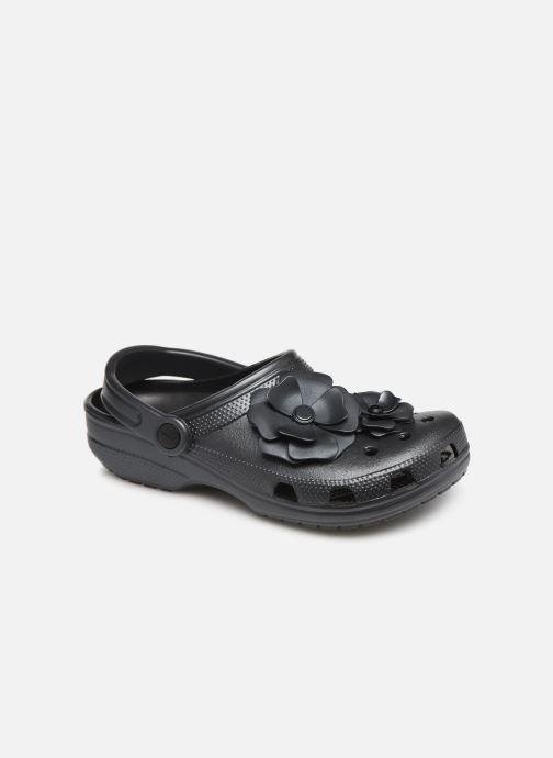 Mules et sabots Crocs Classic Vivid Blooms Clog Noir vue détail/paire