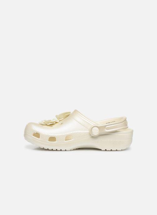 Mules & clogs Crocs Classic Vivid Blooms Clog White front view