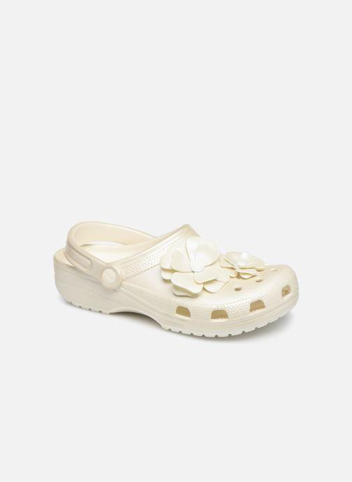 Mules et sabots Crocs Classic Vivid Blooms Clog Blanc vue détail/paire