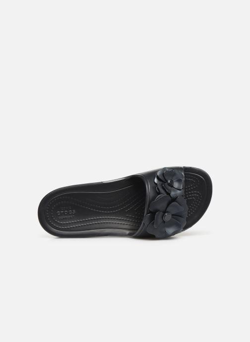 Mules et sabots Crocs Crocs Sloane VividBlooms Slide W Noir vue gauche