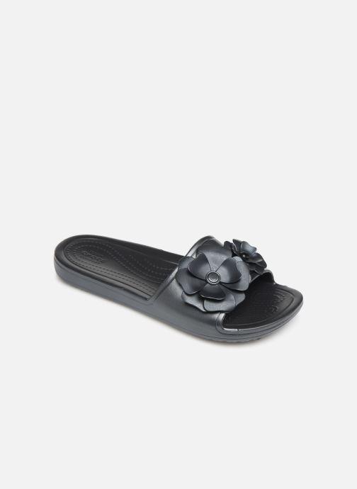 Mules et sabots Crocs Crocs Sloane VividBlooms Slide W Noir vue détail/paire