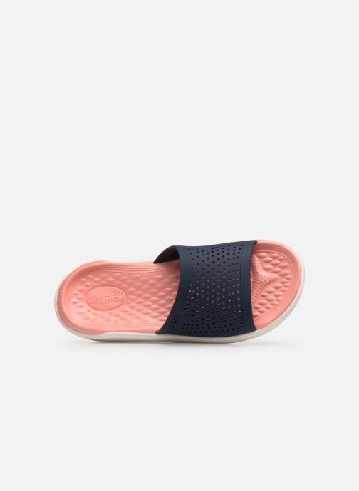 Mules et sabots Crocs LiteRide Slide F Bleu vue gauche