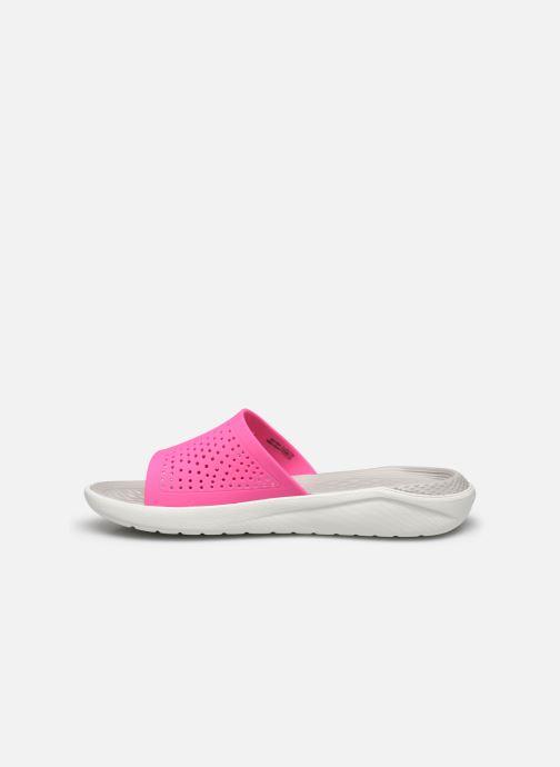 Clogs & Pantoletten Crocs LiteRide Slide F rosa ansicht von vorne