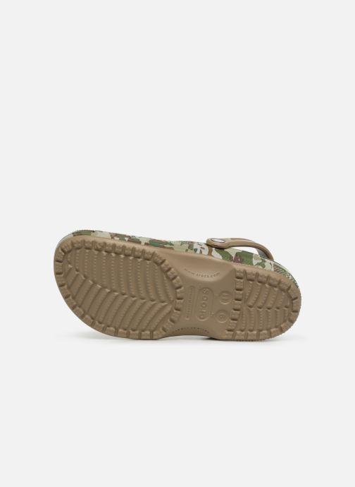 Sandales et nu-pieds Crocs Classic Graphic II Clog M Vert vue haut
