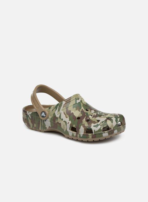 Sandales et nu-pieds Crocs Classic Graphic II Clog M Vert vue détail/paire