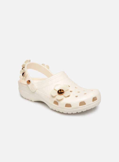Mules et sabots Crocs Classic Metallic Blooms Clog Blanc vue détail/paire