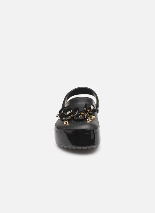 Mules et sabots Crocs CB Platform Metallic Blooms Clog Noir vue portées chaussures