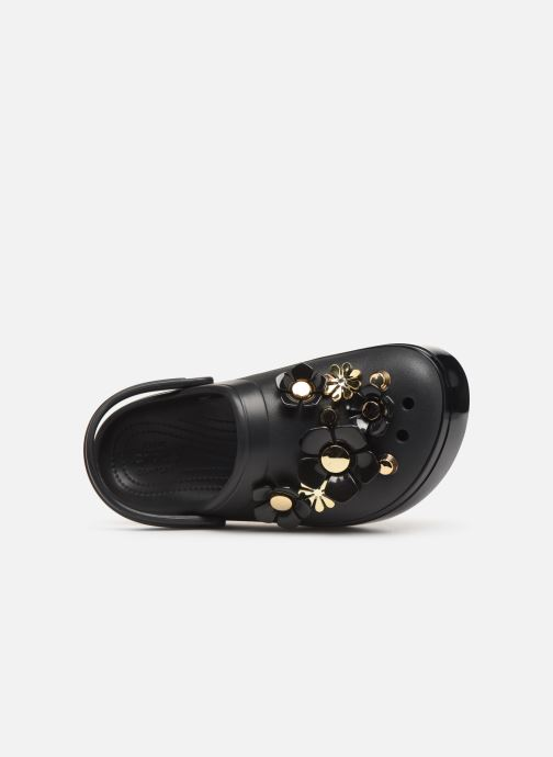 Mules & clogs Crocs CB Platform Metallic Blooms Clog Black view from the left