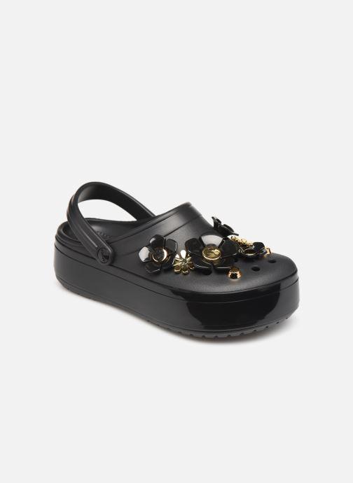 Mules et sabots Crocs CB Platform Metallic Blooms Clog Noir vue détail/paire