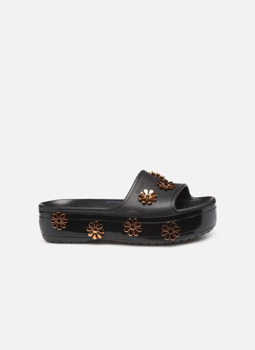 Mules et sabots Crocs CB Platform Metallic Blooms Slide Noir vue derrière