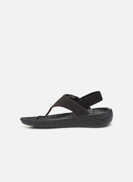 Sandalias Crocs LiteRide Mesh Flip W Negro vista de frente