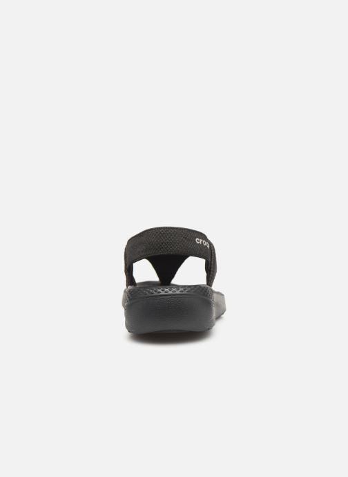 Sandales et nu-pieds Crocs LiteRide Mesh Flip W Noir vue droite