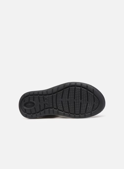 Sandalias Crocs LiteRide Mesh Flip W Negro vista de arriba