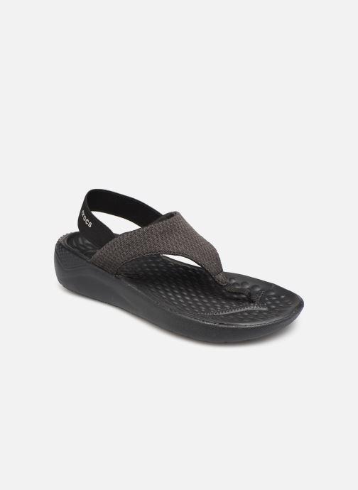 Sandalias Crocs LiteRide Mesh Flip W Negro vista de detalle / par