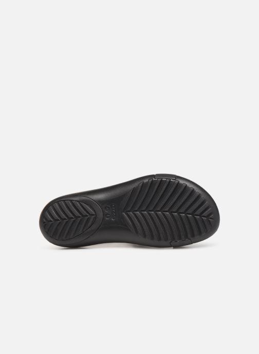 Sandales et nu-pieds Crocs Crocs Serena Embellish Sandal W Noir vue haut