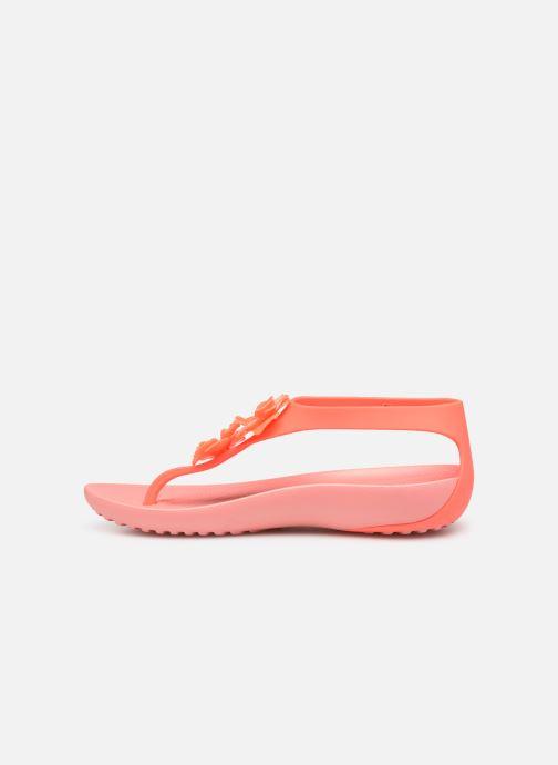 Sandales et nu-pieds Crocs Crocs Serena Embellish Flip W Orange vue face