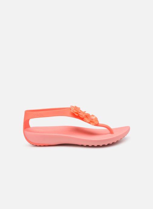 Sandales et nu-pieds Crocs Crocs Serena Embellish Flip W Orange vue derrière