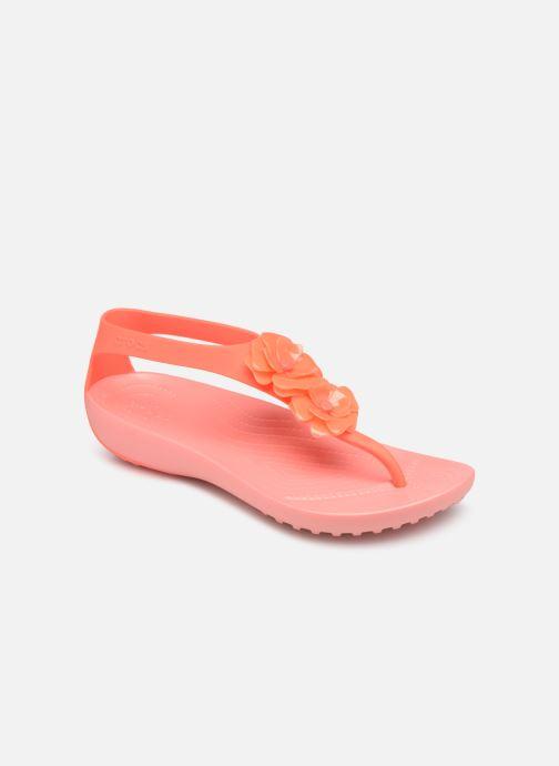abea287b8086 Sandales et nu-pieds Crocs Crocs Serena Embellish Flip W Orange vue  détail paire