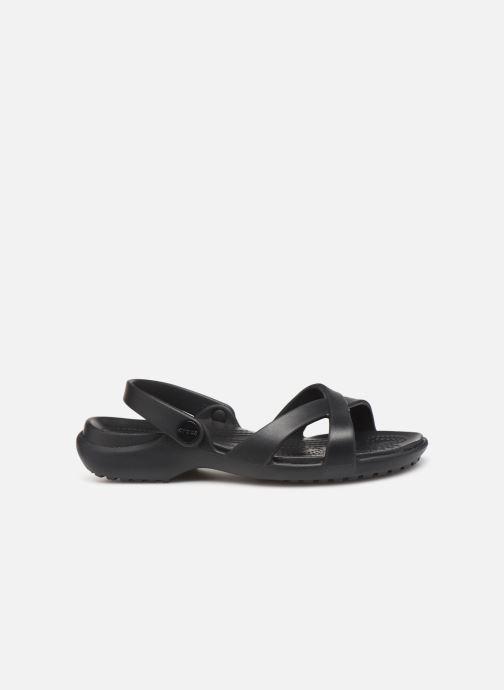 Mules et sabots Crocs Meleen CrossBand Sandal W Noir vue derrière
