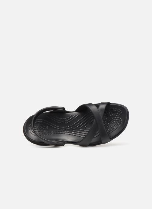Zuecos Crocs Meleen CrossBand Sandal W Negro vista lateral izquierda