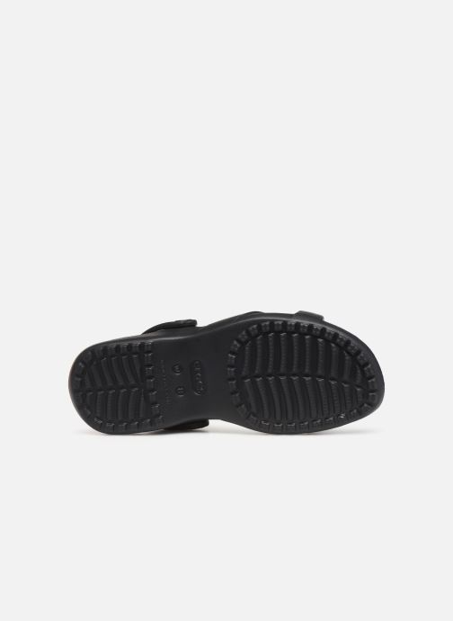 Zuecos Crocs Meleen CrossBand Sandal W Negro vista de arriba
