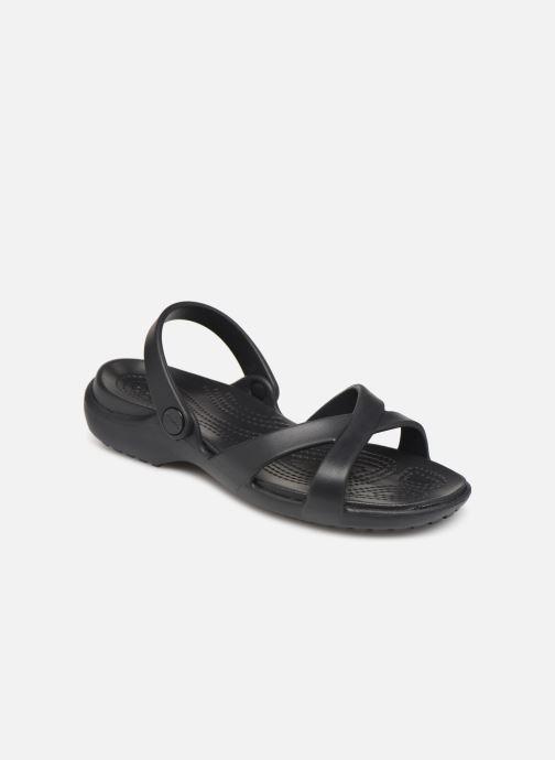Zuecos Crocs Meleen CrossBand Sandal W Negro vista de detalle / par