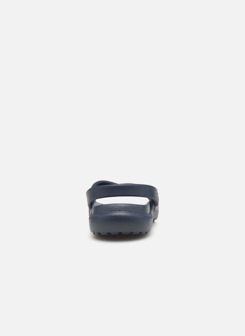 Zuecos Crocs Meleen CrossBand Sandal W Azul vista lateral derecha
