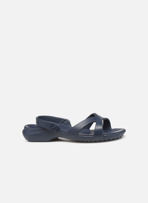 Zuecos Crocs Meleen CrossBand Sandal W Azul vistra trasera