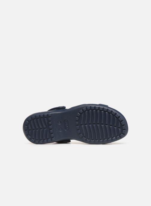 Zuecos Crocs Meleen CrossBand Sandal W Azul vista de arriba