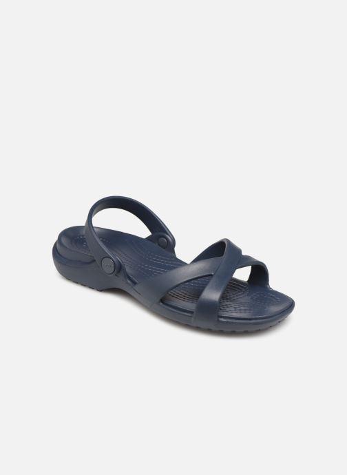 Zuecos Crocs Meleen CrossBand Sandal W Azul vista de detalle / par
