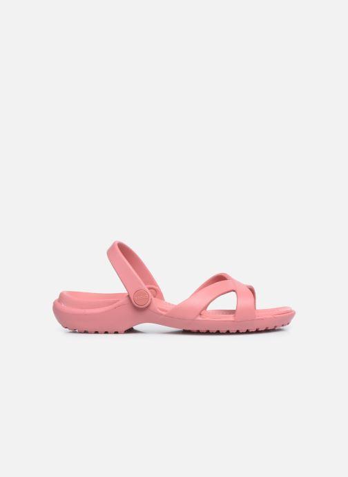 Mules et sabots Crocs Meleen CrossBand Sandal W Rose vue derrière