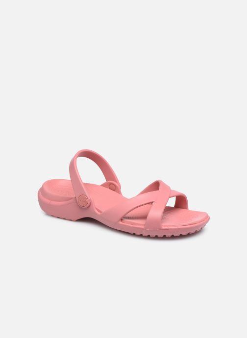 Zuecos Crocs Meleen CrossBand Sandal W Rosa vista de detalle / par