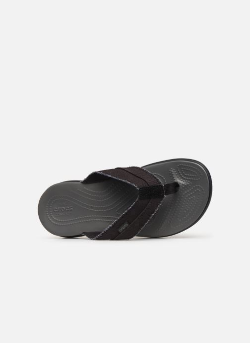 Tongs Crocs Santa Cruz Canvas Flip M Noir vue gauche