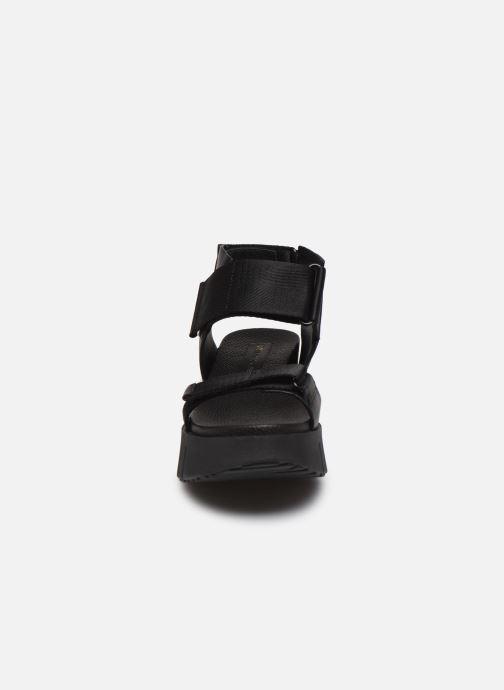 Sandales et nu-pieds United Nude Delta Run Noir vue portées chaussures