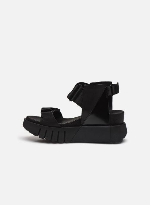 Sandales et nu-pieds United Nude Delta Run Noir vue face